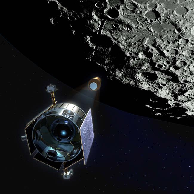 LCROSS1 На Луне были обнаружены залежи воды, золота и серебра