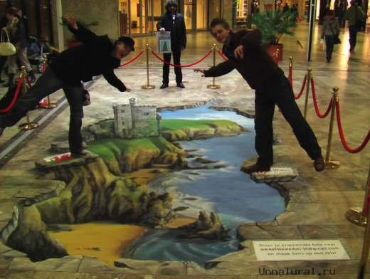 3d street painting visitwales 2 3D искусство на улицах города (3D Pavement Art)