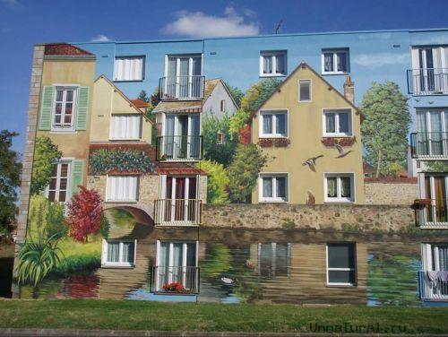 apartmentblockspaintingck Живые картины на улицах города