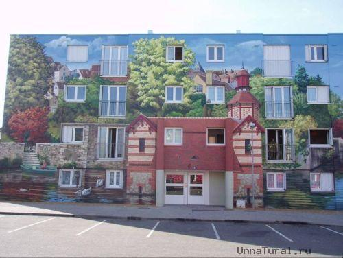 apartmentblockspaintingf Живые картины на улицах города