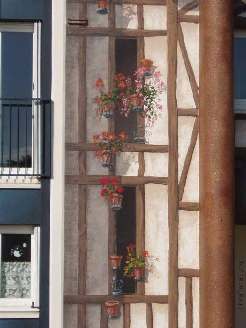 apartmentblockspaintingn Живые картины на улицах города
