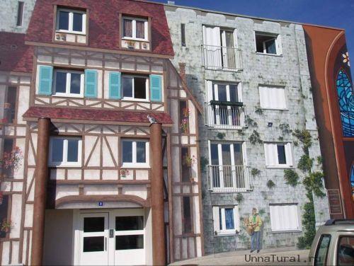 apartmentblockspaintingp Живые картины на улицах города