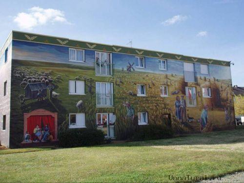 apartmentblockspaintingv Живые картины на улицах города
