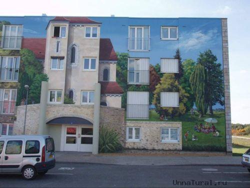 apartmentblockspaintingy Живые картины на улицах города