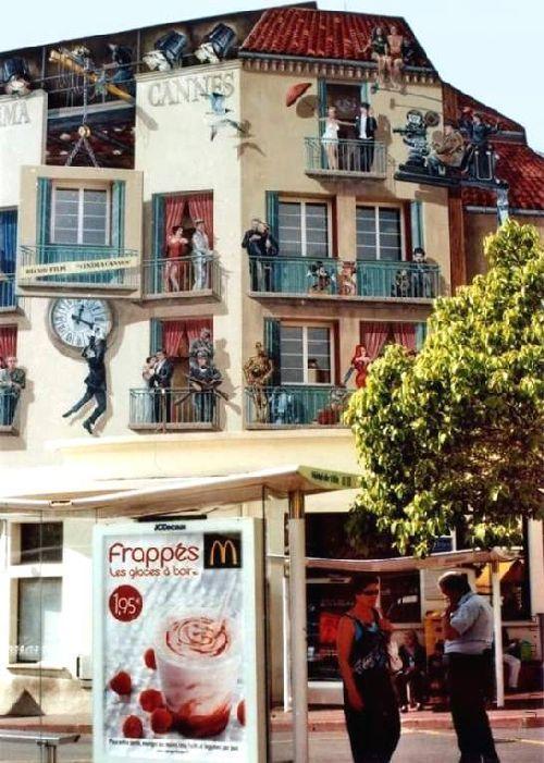 trompeloeilwallpicturesd Живые картины на улицах города