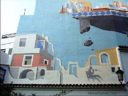 trompeloeilwallpicturesej Живые картины на улицах города