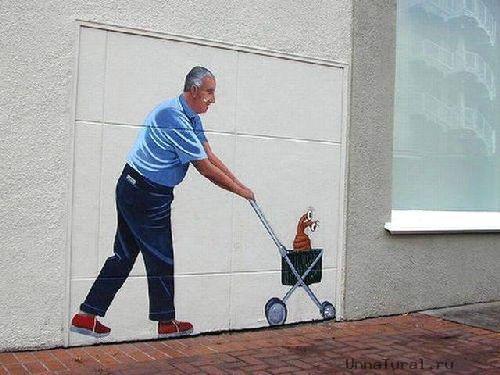 trompeloeilwallpicturesgc Живые картины на улицах города