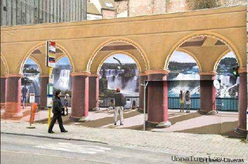 trompeloeilwallpicturesh Живые картины на улицах города