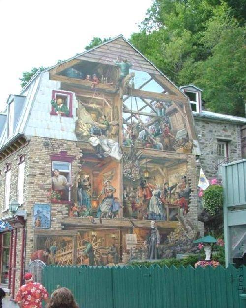 trompeloeilwallpicturesiw Живые картины на улицах города