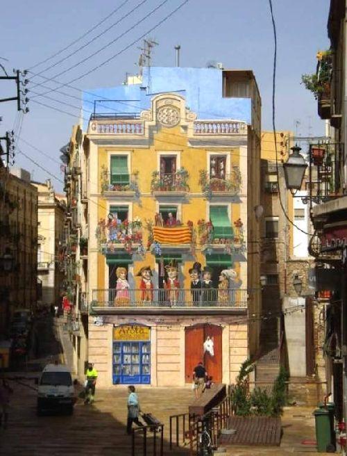 trompeloeilwallpicturesje Живые картины на улицах города