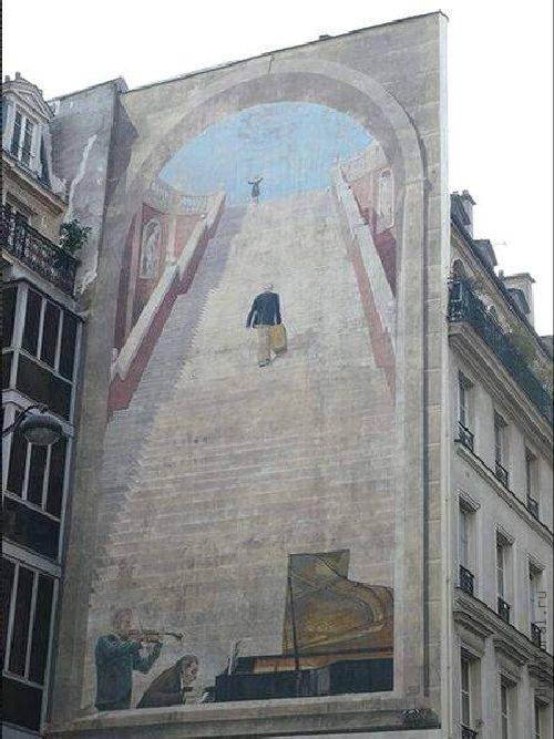 trompeloeilwallpicturesjs Живые картины на улицах города