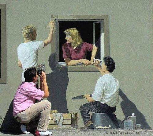 trompeloeilwallpicturesk Живые картины на улицах города
