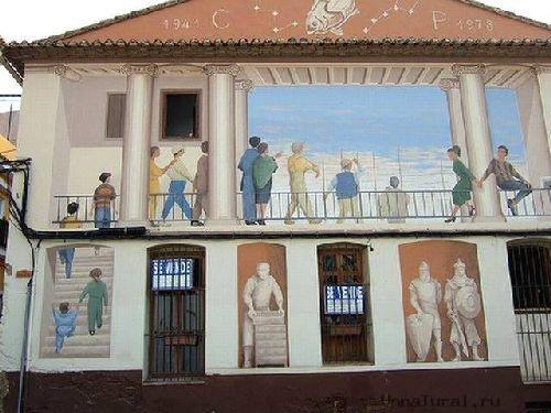 trompeloeilwallpicturesks Живые картины на улицах города