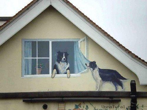 trompeloeilwallpicturespe Живые картины на улицах города