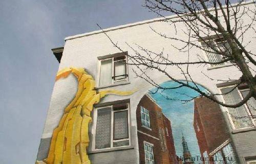 trompeloeilwallpicturess Живые картины на улицах города