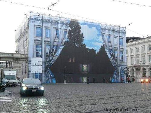 trompeloeilwallpicturesue Живые картины на улицах города