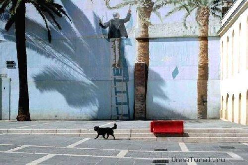 trompeloeilwallpicturesxq Живые картины на улицах города
