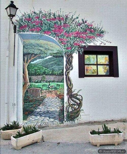 trompeloeilwallpicturesz Живые картины на улицах города