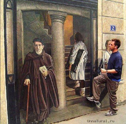 trompeloeilwallpictureszy Живые картины на улицах города