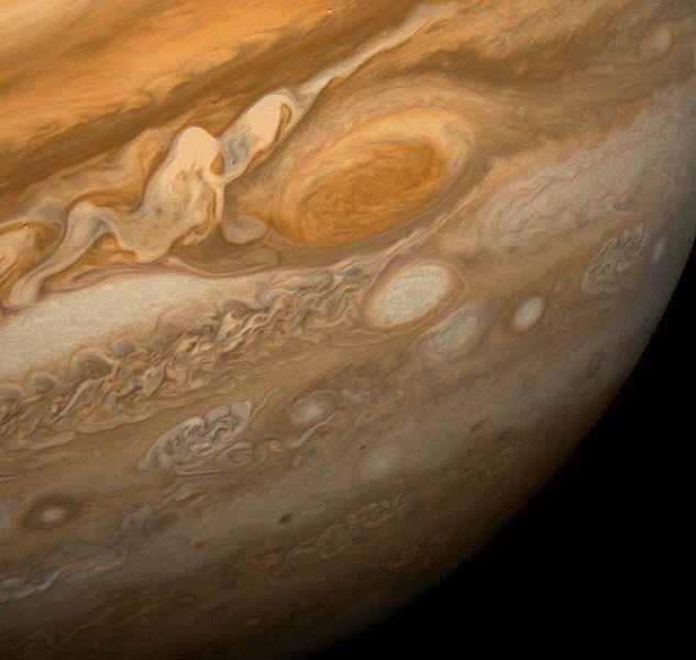 633px Great Red Spot From Voyager 1 Инопланетный сигнал с Вояджер 2