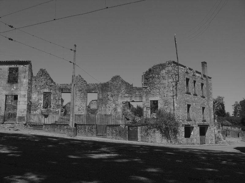oradour1 Орадур сюр Глан, Франция город призрак
