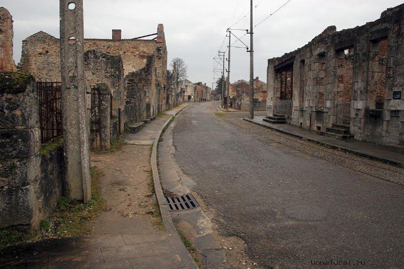 Орадур сюр глан франция город призрак
