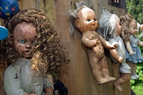 ostrov kukol15 Ла Исла де ла Мюнека   ужасающий остров кукол