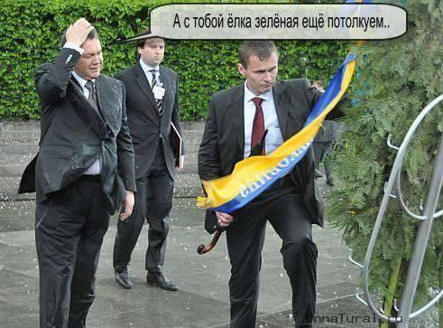 jaba7 Упавший на Януковича венок продан на интернет аукционе