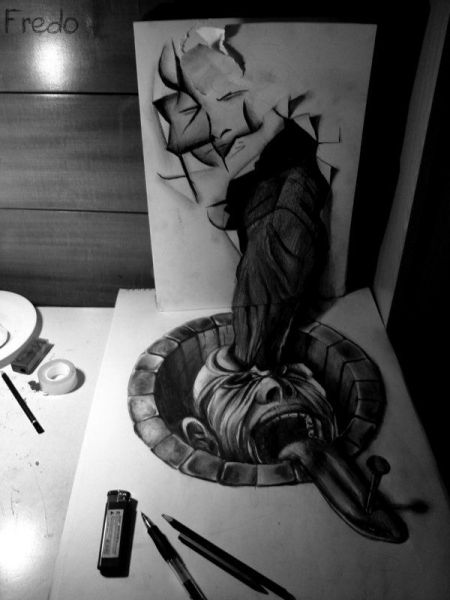 Карандашное искусство в 3d