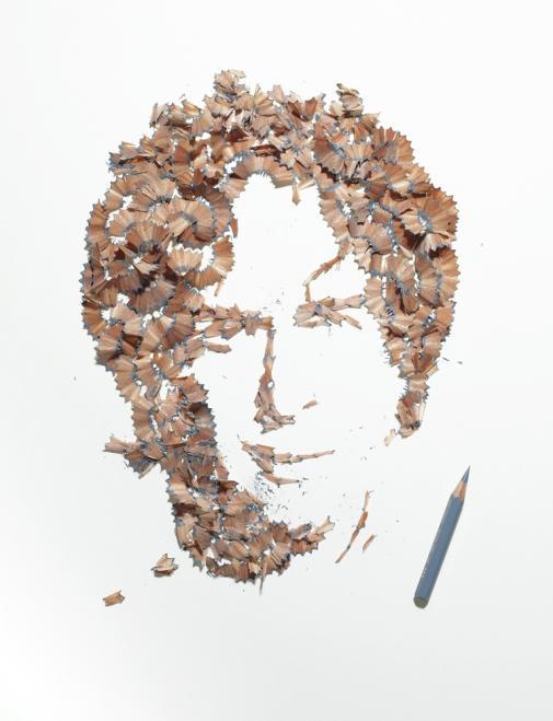 kyle bean pencil shaving 4 Портреты из карандашной стружки
