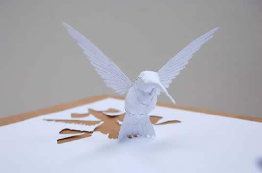 distantwish2 Невероятные бумажные скульптуры Питера Коллсена