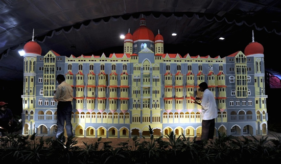 taj mahal palace hotel cake 3 Кулираное произведение искусства: отель Тадж Махал