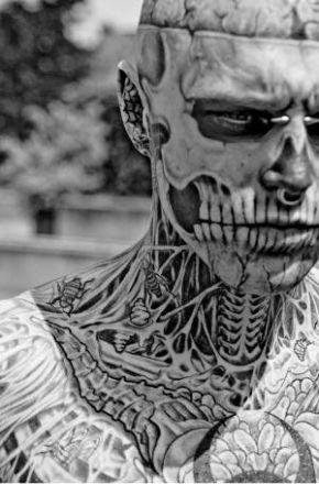 rick genest zombie boy montreal quotes 17 самых модифицированных людей на планете Земля