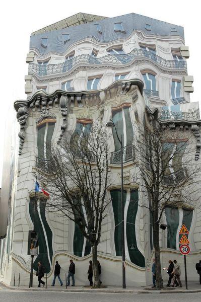 trompe 1 Иллюзорное здание в Париже