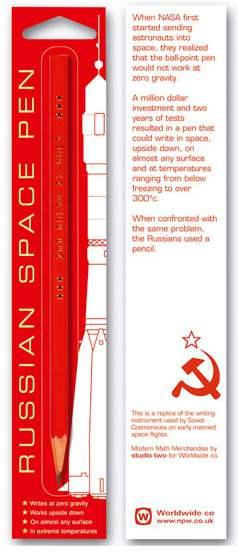 russian space pen Все гениальное просто: Русский космический карандаш