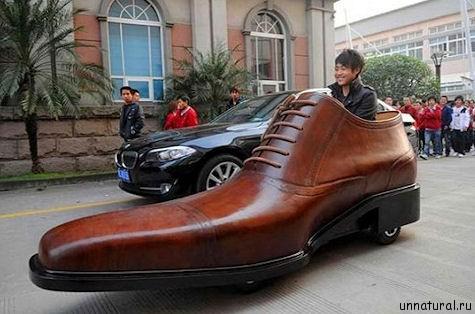 Shoe Car Гигантский ботинко мобиль