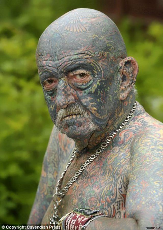 Tommy Wells 2 Самый татуированный прадедушка Великобритании