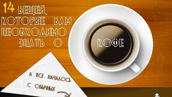 coffee header 14 вещей, которые Вам необходимо знать о кофе