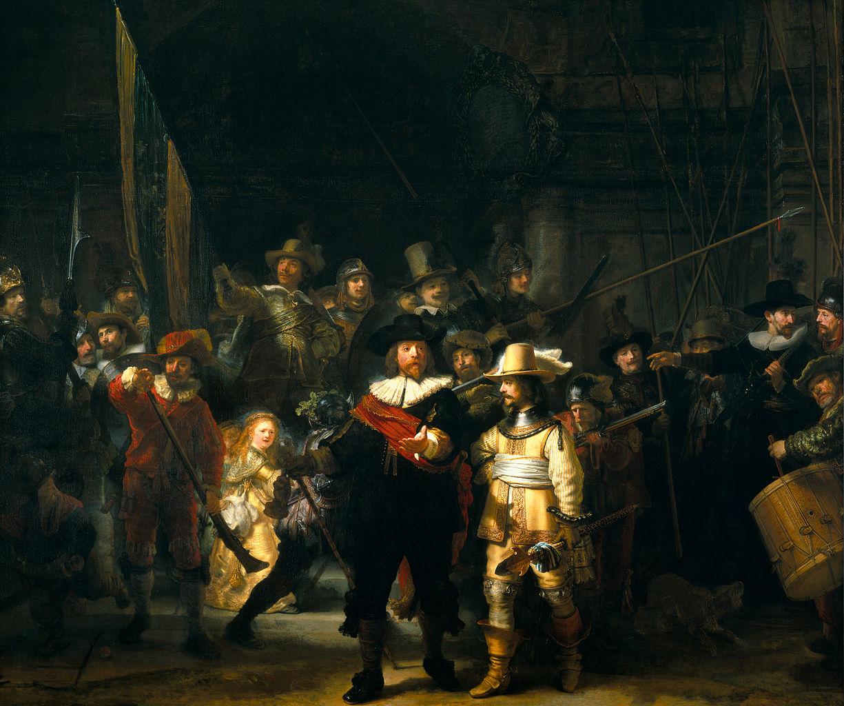 Rembrandt De Nachtwacht Топ 7.  Самые невероятные ошибки в известных произведениях искусства, которые Вы просто не могли не заметить