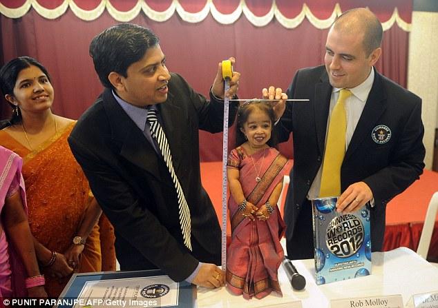 Jyoti Amge 1 65 сантиметровая индианка стала самой маленькой женщиной в мире