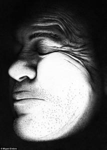 miguel endara 1 214x300 Фотореалистичный портрет из 3,2 миллионов крошечных точек