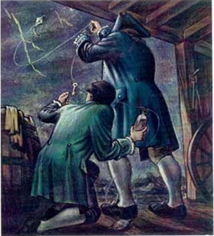 benjamin franklin the kite experiment and Back in 1752, benjamin franklin performed an epic -- and incredibly dangerous -- experiment in order to show that lightning is a form of electricity, he flew a kite in a thunderstorm with a key attached.