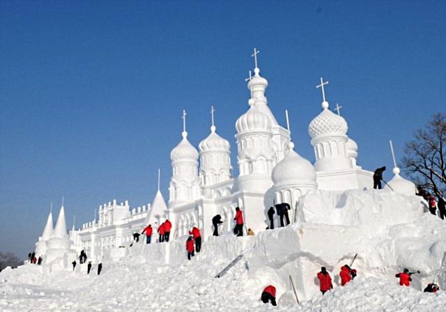 Jingyue Snow 5 1 Джингуетанский фестиваль снежных скульптур