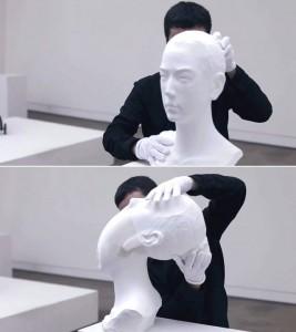 p g 2 267x300 Гибкие бумажные скульптуры Ли Хунбо