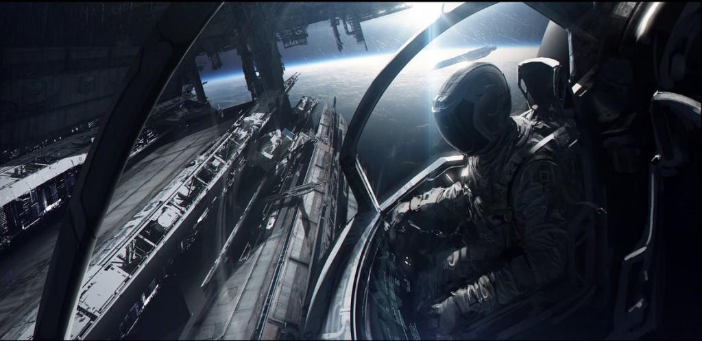spaceship by andreewallin d5vtewf 1024x498 Фантастические произведения – главные популяризаторы идеи существования внеземной жизни. Часть VII