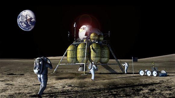 070414 1833 1 Обитаемая лунная база первого этапа