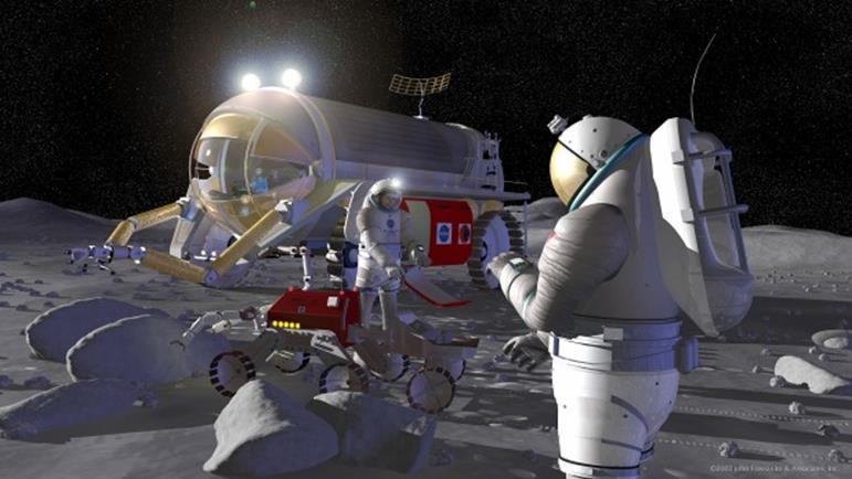 070414 1833 3 Обитаемая лунная база первого этапа