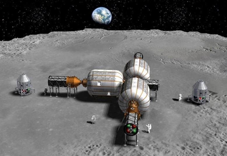 080814 0954 1 Система энергоснабжения на начальном этапе развертывания лунной базы