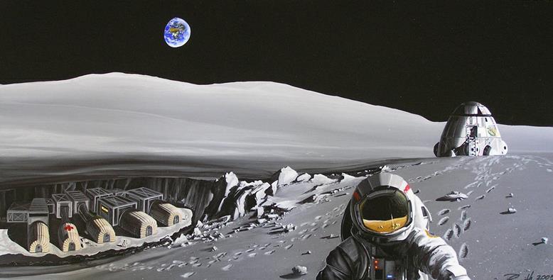 080814 0954 2 Система энергоснабжения на начальном этапе развертывания лунной базы