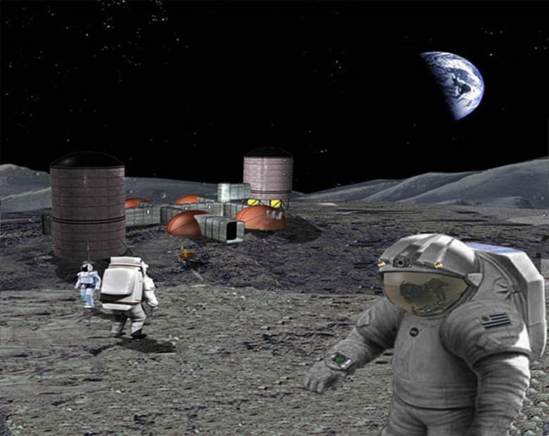 080814 0954 3 Система энергоснабжения на начальном этапе развертывания лунной базы